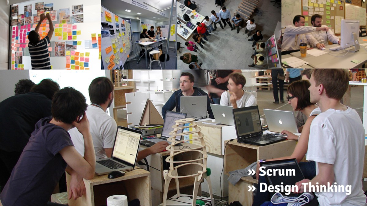 Scrum and design thinking in practice: The only way of working appropriate for digital media.