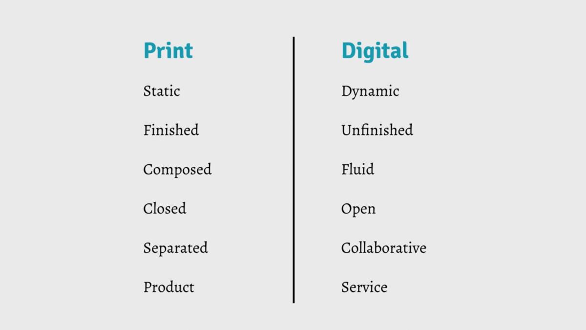Print vs. Digital in stereotypes